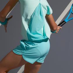 Tennisshort voor meisjes Artengo TSH500 turquoise