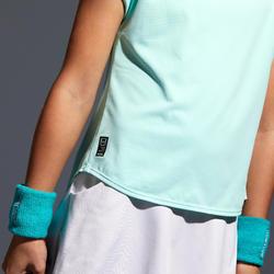 女童款T恤500-藍綠色
