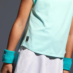 T.SHIRT 500 FILLE TURQUOISE