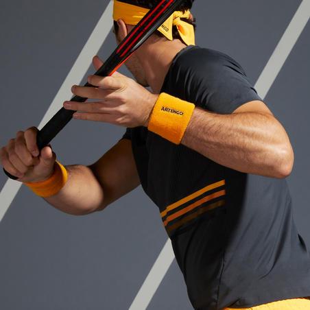 Чоловіча футболка 900 Light для тенісу - Сіра/Жовта