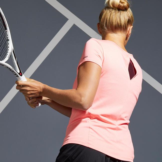 Women's Tennis T-Shirt TS Dry 100 - Coral