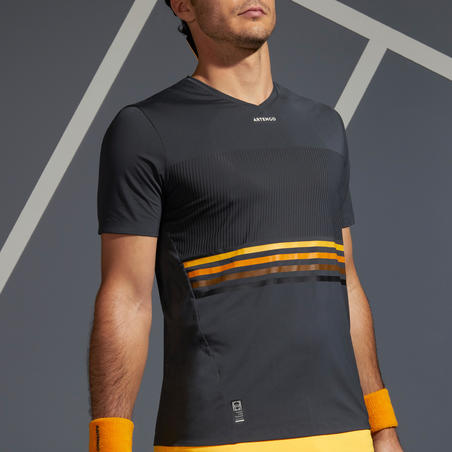 Men's Tennis T-Shirt TTS 900 Light - Grey/Yellow