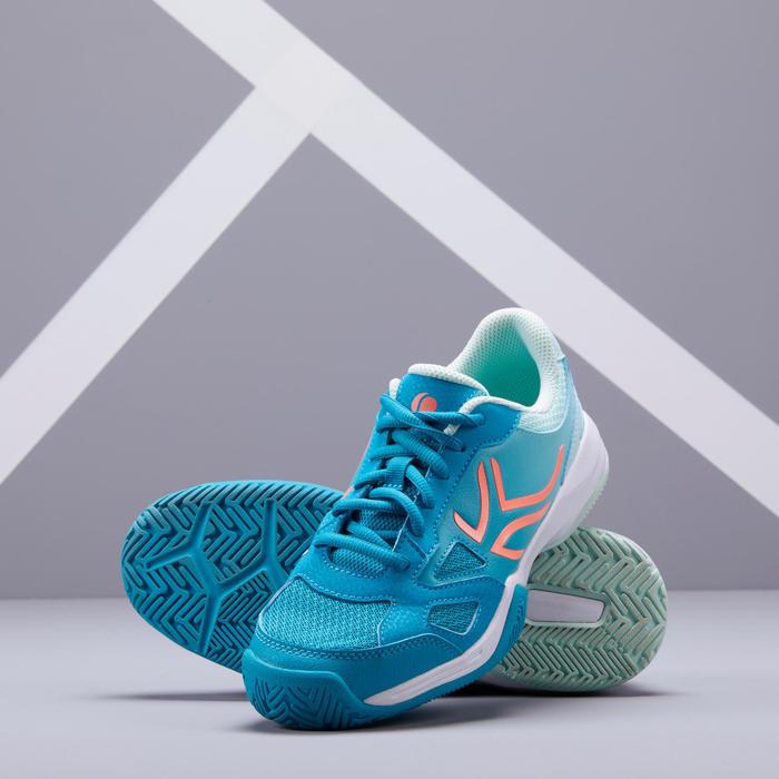 兒童款網球鞋TS560-藍綠色