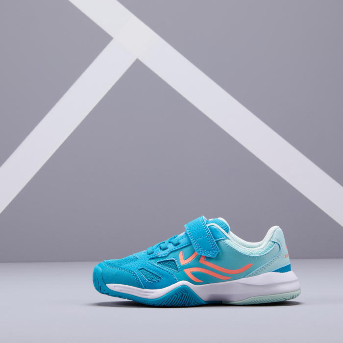 兒童款網球鞋TS560-淺碧藍色