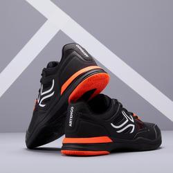 男款多場地網球鞋TS500 - 橘黑配色