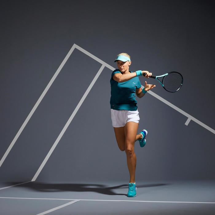 女款網球T恤TS Soft 500-綠色