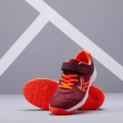Tennisschoenen voor kinderen Artengo TS160 donkerrood