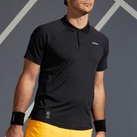 Men's Tennis Polo Shirt TPO 500 Dry - Black