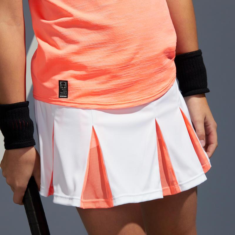 กระโปรงเด็กผู้หญิงรุ่น 900 (สีส้ม Coral)