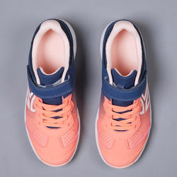 兒童款網球鞋TS160-桃色漸層
