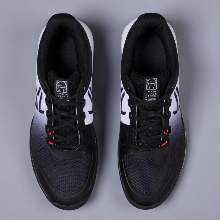 男款多場地網球鞋TS590 - 黑白配色