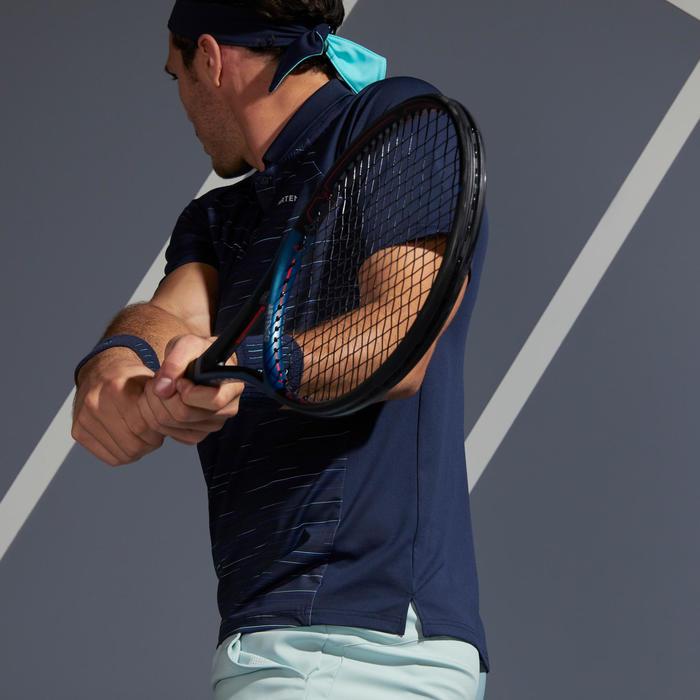 Tennispolo heren TPO 500 Dry blauw
