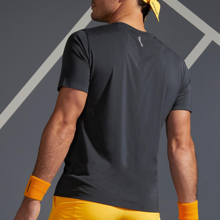 TEE SHIRT DE TENNIS HOMME TTS 900 LIGHT GRIS JAUNE