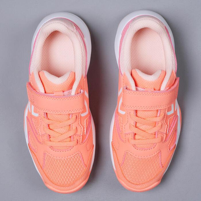 兒童款網球鞋TS560 KD - 珊瑚紅