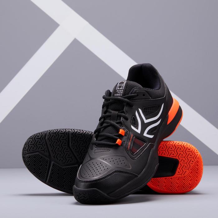 Men's Multi-Court Tennis Shoes TS500 - Black/Orange
