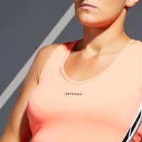 Playera Sin Mangas de Tenis TK Dry 100 Mujer Coral