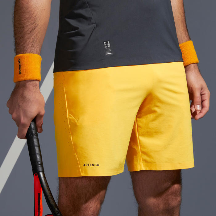 SHORT DE TENNIS HOMME TSH 900 LIGHT JAUNE