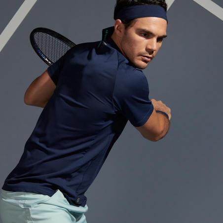 Men's Tennis Polo Shirt TPO 500 Dry - Navy