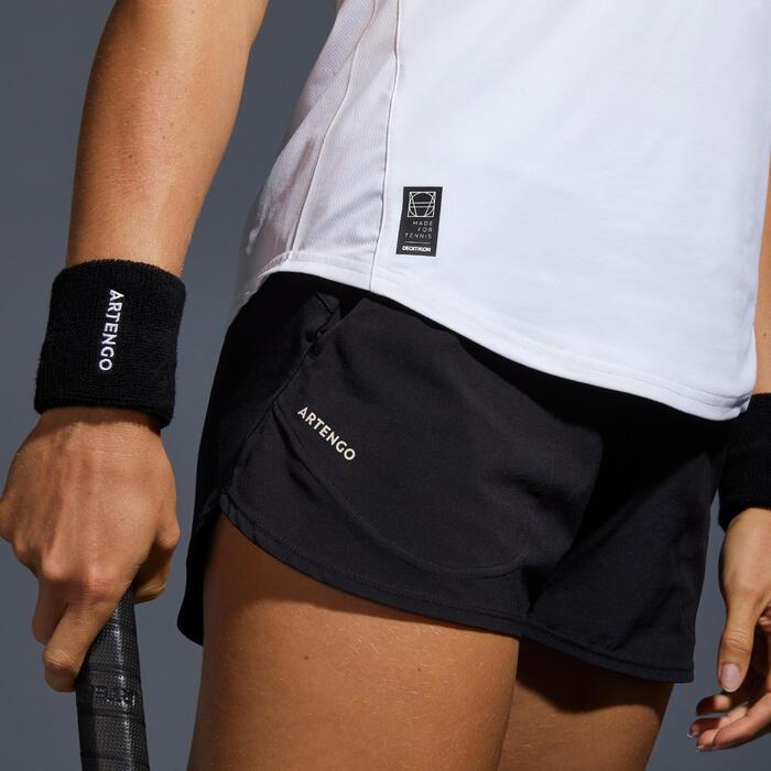 Tennisshort voor dames SH DRY 500 zwart