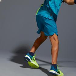 Tennisshort voor kinderen Artengo TSH500 petrolblauw
