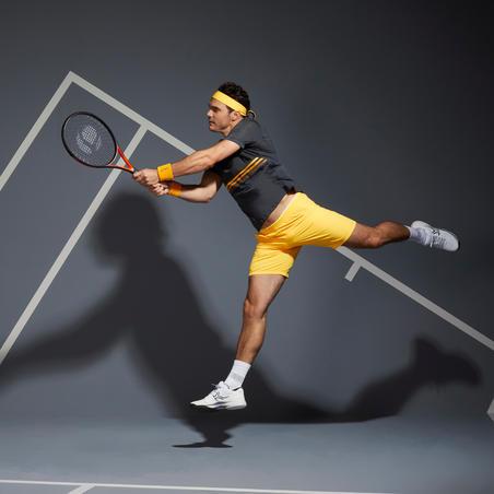 T-shirt Tenis TTS 900 Light Pria - Abu-Abu/Kuning