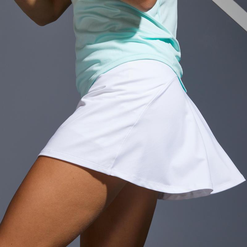 กระโปรงผู้หญิงสำหรับใส่เล่นเทนนิสรุ่น SK Dry 100 (สีขาว)