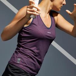 Tennis tank top voor dames TK Dry 100 paars