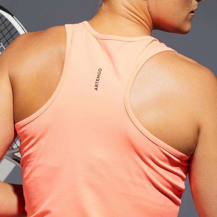 Tennis tank top voor dames TK Dry 100 oranje