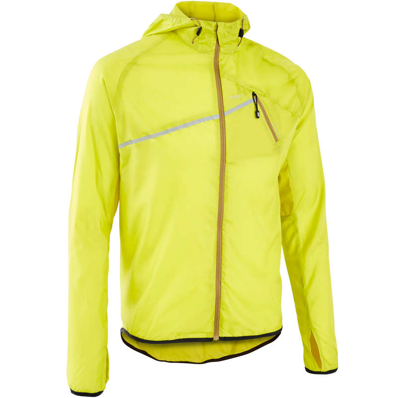 MAN TRAIL RUNNING CLOTHES Trail Running - M WIND TRAIL JACKET GREEN/YELL EVADICT - Trail Running Clothes