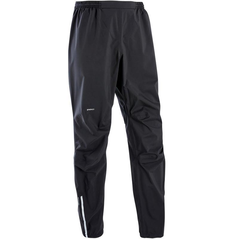 Vīriešu taku skriešanas ūdensnecaurlaidīgas bikses, melnas