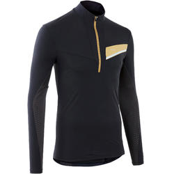 MEN'S LONG-SLEEVED TRAIL RUNNING JERSEY - BLACK/BRONZE