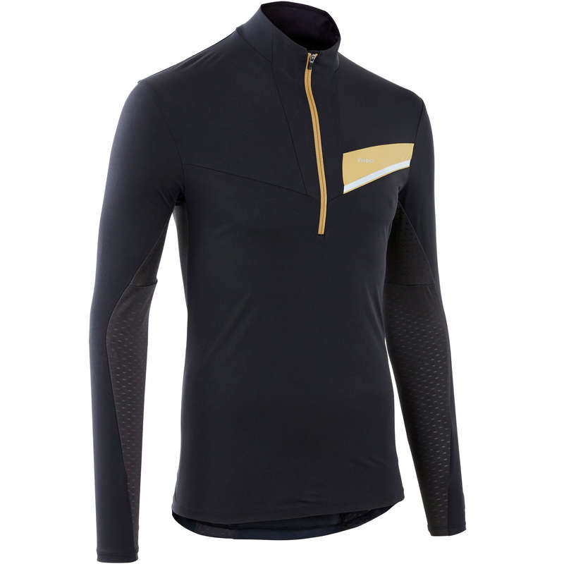 MAN TRAIL RUNNING CLOTHES Trail Running - TRAIL M LS TS BLACK/BRONZE EVADICT - Trail Running Clothes