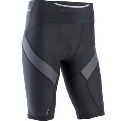 Korte compressie tight voor traillopen heren zwart/grijs