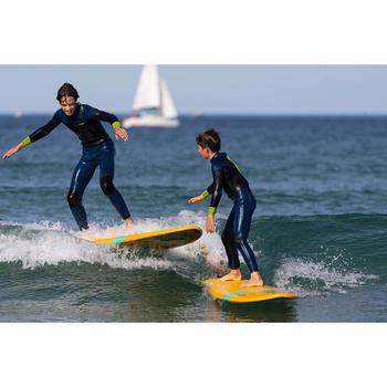 Traje Neopreno Largo Surf Olaian Niño 500 4/3 mm Azul amarillo