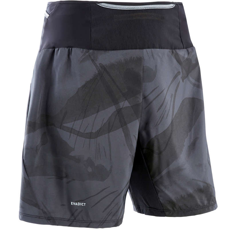 MAN TRAIL RUNNING CLOTHES Trail Running - M Trail Baggy Shorts - grey EVADICT - Trail Running Clothes