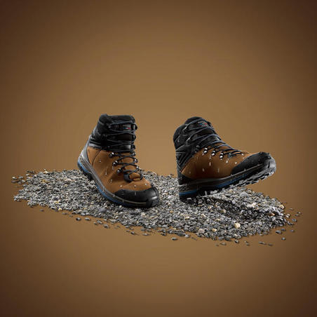 Trek 100 Mountain Trekking Leather Boots - Men