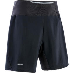 Baggy short voor trail running heren zwart