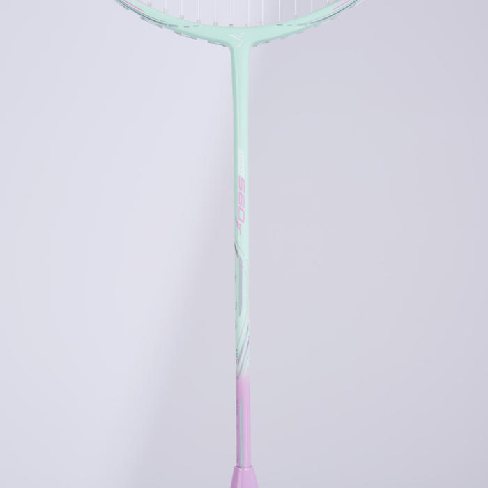 JUNIOR BADMINTON RACKET BR 560 LITE MINT PINK