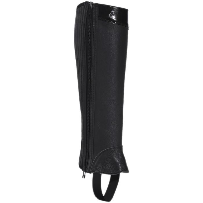 Mini-chaps équitation adulte BASIC 700 cuir noir - 177624