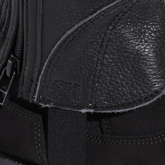 Mini-chaps équitation adulte BASIC 700 cuir noir - 177628