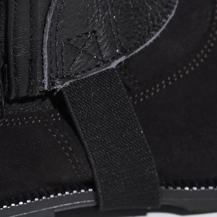 Mini-chaps équitation adulte BASIC 700 cuir noir - 177629