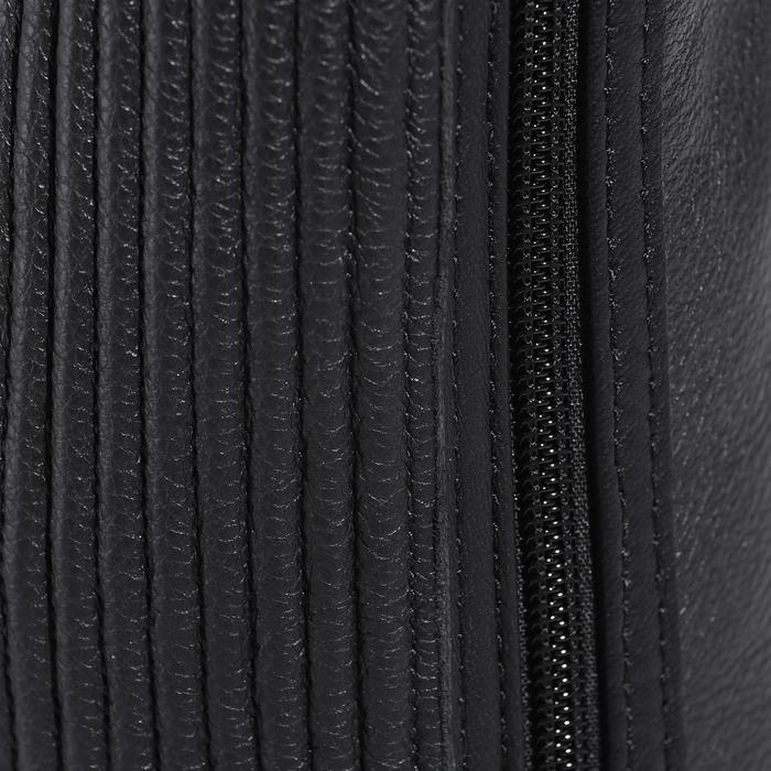 Mini-chaps équitation adulte BASIC 700 cuir noir - 177630