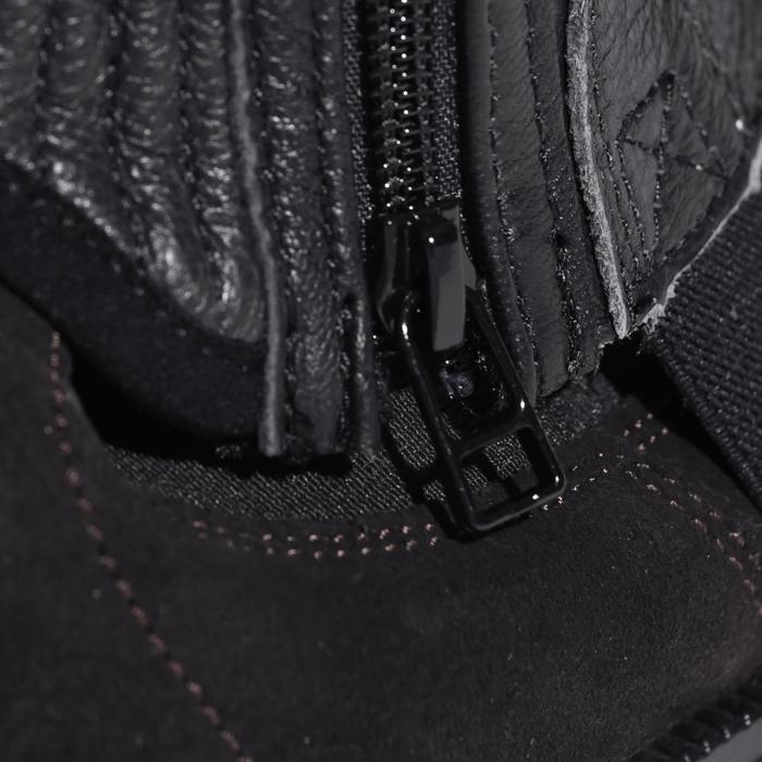 Mini-chaps équitation adulte BASIC 700 cuir noir - 177631