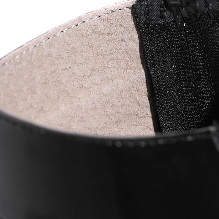 Mini-chaps équitation adulte BASIC 700 cuir noir - 177632