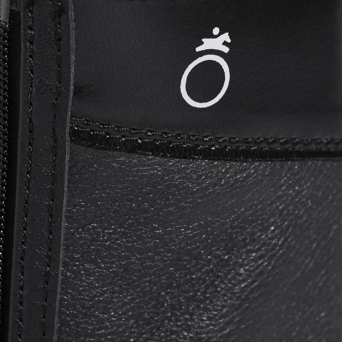 Mini-chaps équitation adulte BASIC 700 cuir noir - 177633