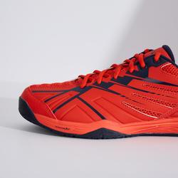 男款極致舒適羽球鞋BS 590紅色及海軍藍配色