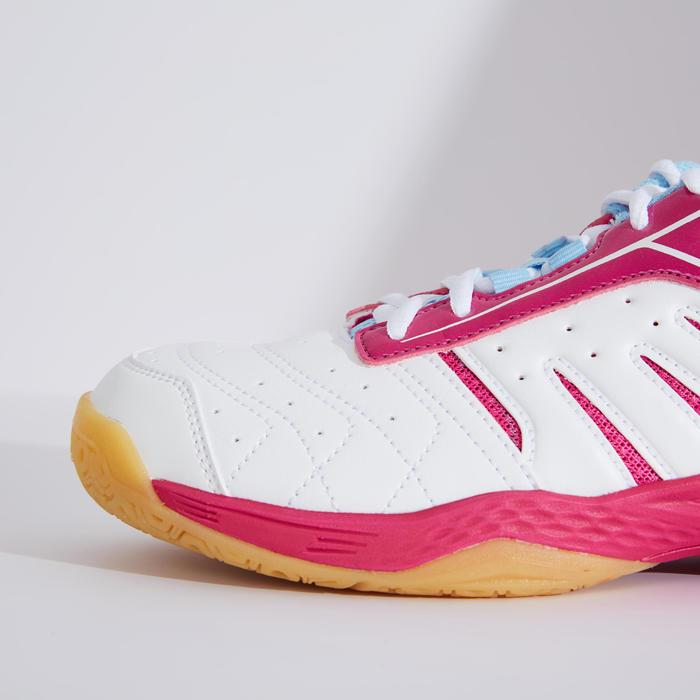 WOMEN BADMINTON SHOES BS 560 LITE WHITE FUCHSIA