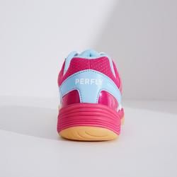 女款輕量羽球鞋BS 560白色紫紅配色