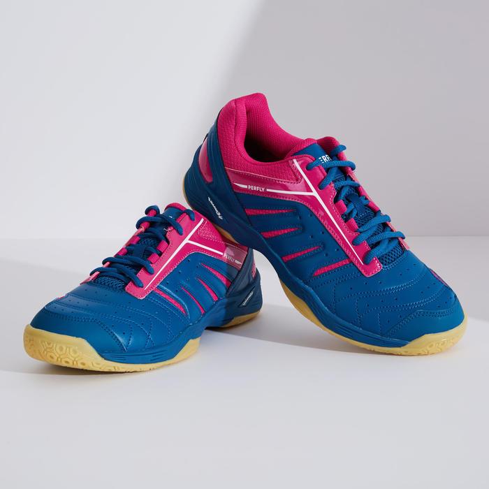 男款輕量羽球鞋BS 560軍藍及粉紅配色