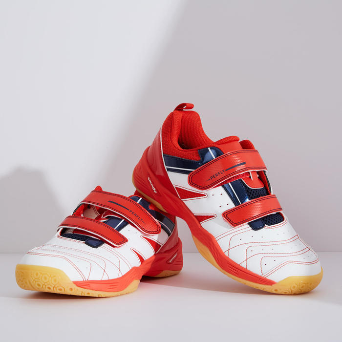 KID BADMINTON SHOES BS 560 LITE WHITE RED
